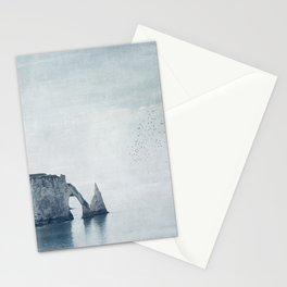 View of Chalk Cliffs Étretat-Normandy-France Stationery Cards