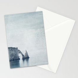 View of Chalk Cliffs Etretat - Normandy - France Stationery Cards