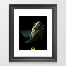 Geometric Yoda Framed Art Print