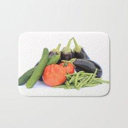 Vegetables together Bath Mat