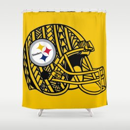 Polynesian Style Steelers Shower Curtain