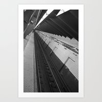 subway Art Prints featuring Subway by Laura Gomez