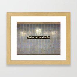 Berlin U-Bahn Memories - Weinmeisterstraße Framed Art Print