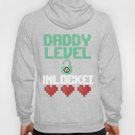 New Dad Gift Funny Dad Level 1 T-Shirt Funny Gaming Daddy Hoody