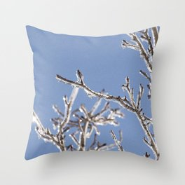 Ice in the Trees Throw Pillow