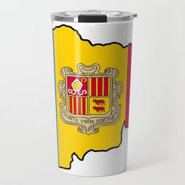 Andorra Map with Andorran Flag Travel Mug