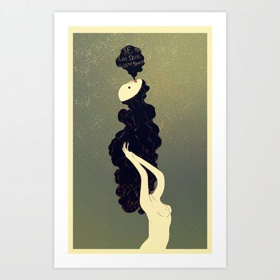 The Air Was Dense With Spirits Art Print