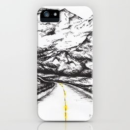 Way to the mountains iPhone Case