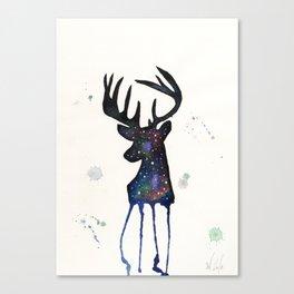 Spirit Nebula Stag Canvas Print