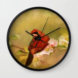 Cardinal of Spring Wall Clock