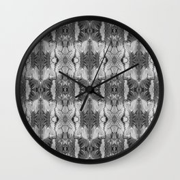 B&W Open Your Eyes Patterned Image Wall Clock