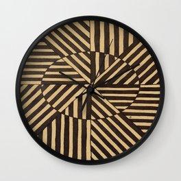 Line and Circle Optical Illusion Wall Clock