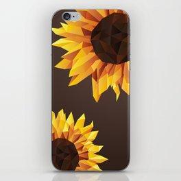 Polygonal Sunflower iPhone Skin