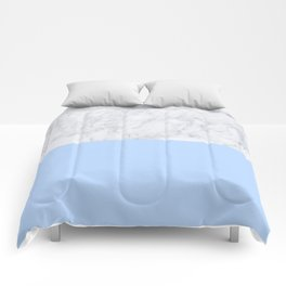 Duck Egg Marble Comforters