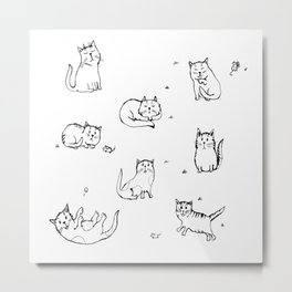 Playful kitties Metal Print