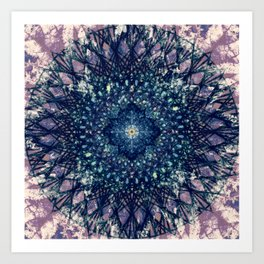 Purple Mandala II Art Print