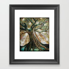 Radiant Oak Framed Art Print