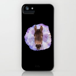 Horse Watercolor Pastel Tone Color Animal Face iPhone Case