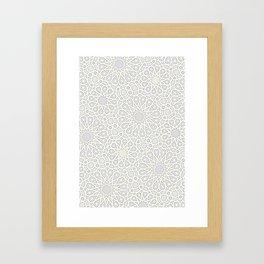 White Moroccan Tiles Pattern Framed Art Print