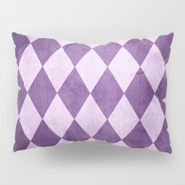 Grape Harlequin Grunge Pillow Sham