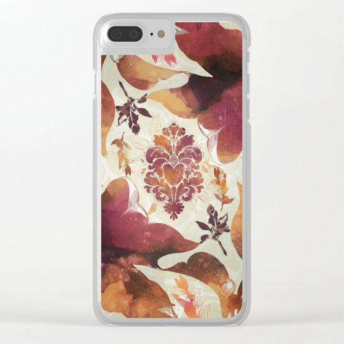 Floral Decor II Clear iPhone Case