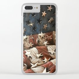 falling stars and stripes Clear iPhone Case