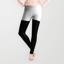Color Block-Black and White Leggings