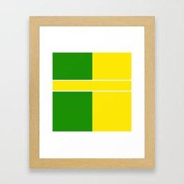 Team Colors 6...Yellow,green Framed Art Print