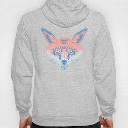 Pastel Fox Pattern Hoody