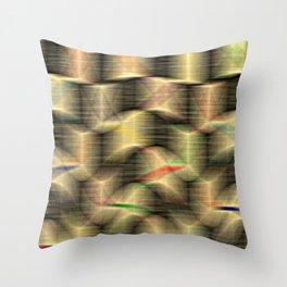 Precariously Stacked Throw Pillow