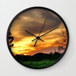 April East Texas Sunset Wall Clock
