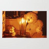 teddy bear Area & Throw Rugs featuring Teddy Bear by Ezgi Kaya