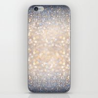 lights iPhone & iPod Skins featuring Glimmer of Light (Ombré Glitter Abstract) by soaring anchor designs