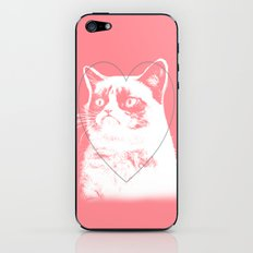 grumpy cat pink iPhone & iPod Skin