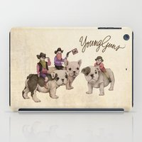 guns iPad Cases featuring Young Guns by Katy Davis