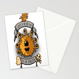 Cutie Is In The Eye Of The Beholder Stationery Cards