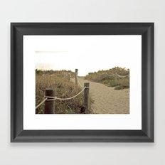Footpath Framed Art Print