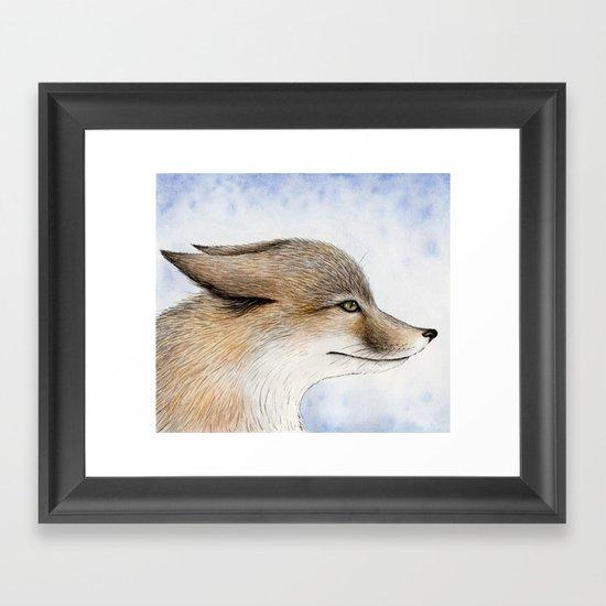 Swift Fox Framed Art Print