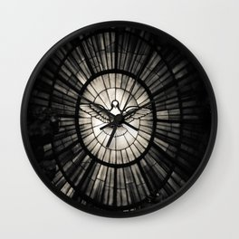 The Holy Spirit as a dove Wall Clock