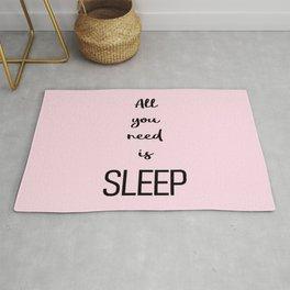 All you need is sleep Pink Rug