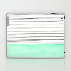 Stripes and watercolor Laptop & iPad Skin