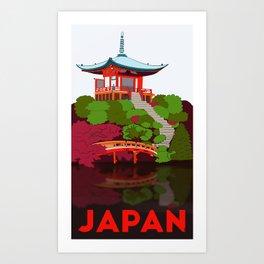 Japan travel poster  Art Print