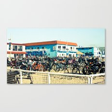 Bicycle Parking Lot Canvas Print