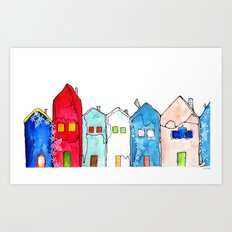 Houses1 Art Print