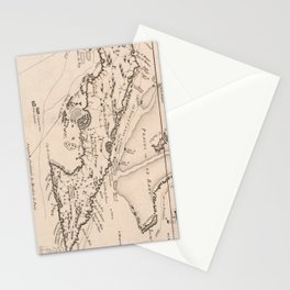 Vintage Map of Cuba (1764) Stationery Cards