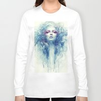 oil Long Sleeve T-shirts featuring Oil by Anna Dittmann
