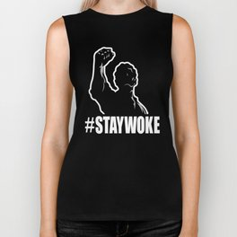 Hashtag Staywoke Black History Month Black Pride Lives Matter Movement Biker Tank
