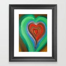 Rainbow Love Framed Art Print