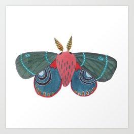 Watercolor Moth Day 29/ Moth Art/ Butterfly Art Art Print
