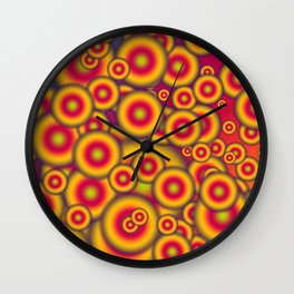 Jelly donuts invasion Wall Clock